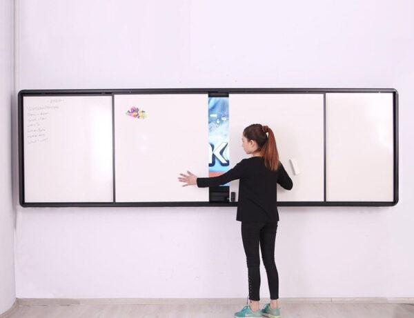 Emkotech Çift Sürgülü LED Akıllı Tahta