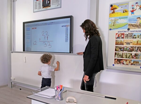 Emkotech Interactive Panel With Special Vertical Sliding Board System
